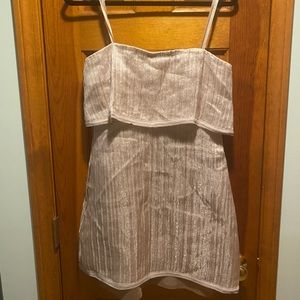 BCBG size 4 strapless dress NWT pink and shimmery